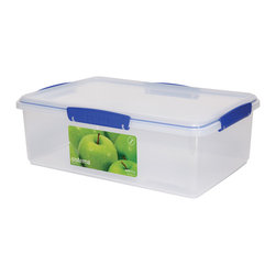 Sistema Klip It 7 Liter Container - The Klip It 7 Liter Container is big enough to store the largest batches of cookies!  Big enough to hold a bag of oranges or your other favorite foods for storage  efficient easy opening locking clips plus a rubberized seal of this 7 liter 29 cup food storage container ensures that food stays fresher longer.  BPA Free  made in New Zealand from 100% lead free virgin materials.Product Features                                 Capacity - 7 Litre / 236 oz / 29 cups          Microwave  dishwasher  & freezer safe          BPA Free - Made from lead free virgin materials          Made in New Zealand