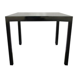 1960's Dunbar Signed Parsons Table - We adore this vintage and newly re-lacquered black Dunbar table. Still has original Dunbar label on the bottom. Simple lines make it great for a game table, small dining table or side table - your choice!