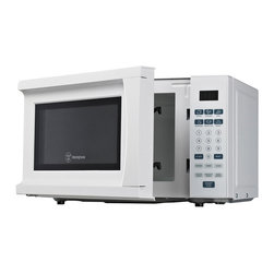 Westinghouse - Westinghouse White 0.7 cubic foot Microwave - The Westinghouse 700 Watt,0.7 cubic foot microwave oven features a white finish. Push button touch controls with green LED display and multiple different settings offer convenience.