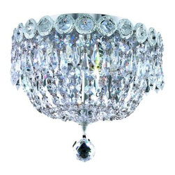 "PWG Lighting / Lighting By Pecaso - Agathe 3-Light 10"" Crystal Flush Mount 1615F10C-RC - This classical Agathe Crystal Chandelier with flowing symmetrical shape and nearly invisible frame offers a striking surge of brilliant light. Sconces and ceiling mounts enhance your room decor."