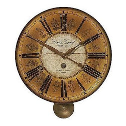 "Timeworks Clocks by Uttermost - Louis Lenial Wall Clock 20"" - Stunning Vintage Style Clock"
