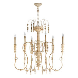 Quorum International - Quorum International 6206-6 Salento 6 Light Candle Style Chandelier - Quorum International 6 Light Chandelier from the Salento CollectionFeatures: