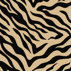 """Infinity Home Source - Kings Court Zebra Black 2' x 6'10"""" Runner Infinity Home Area Rug (2502) - Rich jewel tones brighten your space while a looped nylon pile means your rug won't shed and is easy to clean, even machine washable. This machine made rug has a highly resistant low pile and non-skid rubber backing, giving you a longer lasting product. With the King's Court Collection you can spend more time enjoying your palace and less time waiting for the cleaners."""