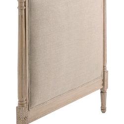 Candelabra Home - Candelabra Home Wood Upholstered King Headboard Natural - Wood Upholstered King Headboard Natural by Candelabra Home