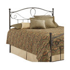 Fashion Bed - Fashion Bed Sylvania Metal Poster Headboard in French Roast-Queen - Fashion Bed - Headboards - B12775 - This simple and elegant headboard features a beautiful arched design, reminiscent of subtly curved flower petals, and delicately shaped posts with rounded finials. The Sylvania headboard is made entirely from durable metal materials and finished in a warm French Roast that is sure to enhance any bedroom with style and elegance.
