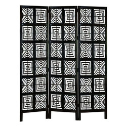 Benzara - Hand Carved Wood 3 Panel Screen - Do have passion for decoration? If yes, why do you limit this hobby just to the drawing room or garden? Some other spots too in the house need your attention. Bring home the best of decorative protection and privacy screens to bring completeness to existing decor. Just have a look over 32699 Wood 3 PANEL SCREEN