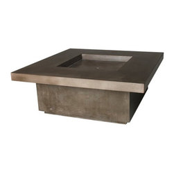 "Hart Concrete Design - Capped Quadra FirePit in Mesa, Mesa, 42"" - The Capped Quadra Firepit is handmade to order by Hart Concrete Design in the United States. Designed to burn on Natural gas but may be outfitted for propane. Each Firepit includes a Stainless Steel burner and Shutoff valves."