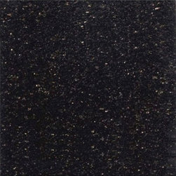 "Black Galaxy Granite Polished Floor Tiles 12"" x 12"" - Lot of 10 Tiles - 12"" x 12"" Black Galaxy Solid Polished Finish Square Pattern Granite Floor Tile. This beautiful granite tile features a smooth, high-sheen finish and a random variation in tone to help add style to your decor along with your bathroom vanity. Designed for floor, wall and countertop use, this granite tile is marginally skid resistant to suit your needs. Simply gorgeous tile."