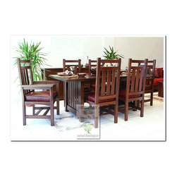 Mission Dining Tables - 100% HANDCRAFTED IN THE UNITED STATES BY OUR MASTER-CRAFTSMAN AND GUARANTEED FOR LIFE!