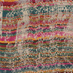 Oriental Weavers - kaleidoscope relic carpet (9x12) - The kaleidoscope collection is cross-woven of polypropylene and boasts up to 65 colors per rug. Designs showcase a dramatic array of bright, vibrant colors such as sunshine yellow, tangerine, hot pink and bright poppy while ultramarine blue, citron and chartreuse round out the assortment giving the playful colors more drama. In this collection more is definitely more; shade upon shade, texture upon texture, it offers an antiqued yet modern aesthetic.