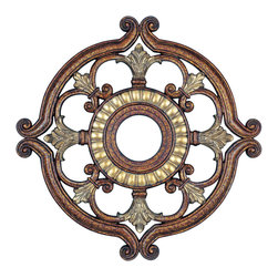 Livex - Livex Ceiling Medallions Ceiling Medallion 8216-64 - Finish: Palacial Bronze with Gilded Accents