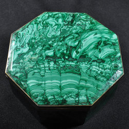 Vintage Malachite Jewelry Box by Rough and Ready Jeweler - Chic and elegant, this vintage malachite jewelry box is perfect to store your special pieces.
