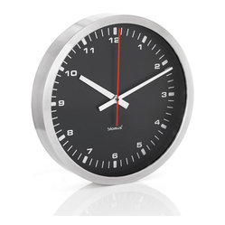 ERA Stainless Steel Wall Clock, Small, Black