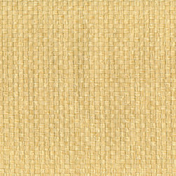 Kuan-Yin Cream Grasscloth Wallpaper - A beautiful basket weave grasscloth wallpaper in a warm vanilla cream colorway.