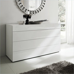 Rossetto Furniture - Start White Dresser - T4110010000LB - Glossy white finish