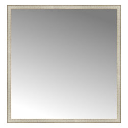 """Posters 2 Prints, LLC - 57"""" x 59"""" Libretto Antique Silver Custom Framed Mirror - 57"""" x 59"""" Custom Framed Mirror made by Posters 2 Prints. Standard glass with unrivaled selection of crafted mirror frames.  Protected with category II safety backing to keep glass fragments together should the mirror be accidentally broken.  Safe arrival guaranteed.  Made in the United States of America"""