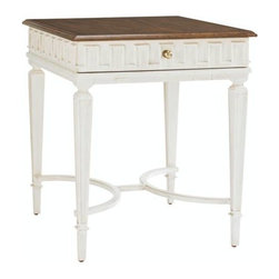 Stanley Furniture - Fairfax-End Table - Raised dental mouldings and carved tapered legs reflect the artistry and craftsmanship of the Fairfax style.