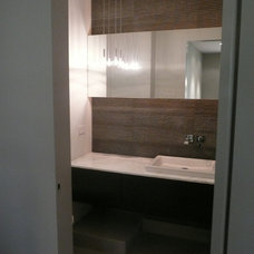 Contemporary Powder Room by Bespoke Design and Construction