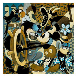 Disney Fine Art - Disney Fine Art Of Mice And Music by Tim Rogerson - Of Mice And Music by Disney Fine Art  -  Limited To 95 Pieces World Wide  -  Size: 30 x 30 Inches  -  Medium: Giclee on Canvas  -  Hand Signed By The Artist: Tim Rogerson  -  Produced by Collector's Editions  -  Fully Authorized Disney Fine Art Dealer  -  Ships Rolled in a Tube  -  Featuring Mickey Mouse