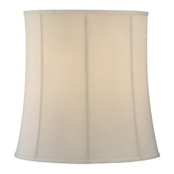 Design Classics Lighting - Eggshell Drum Lamp Shade with Deep Spider Assembly - SH9571 - This lamp shade, wrapped in an eggshell silk fabric, will be an elegant addition to your home. The fabric is of the finest premium quality that will not get frail from smoke or sunlight and will last for years. It features a very clean aesthetic that is perfect for adding a fine accent to your decor and for a huge range of light fixtures. With sleek piping, this shade uses powder coating and comes with a spider fitter that fits most traditional harps. It measures as 18-inch slant, 16-inch top width, and 18-inch bottom width. Dry location rated.