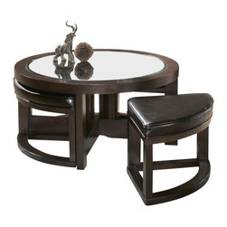Glass Coffee Table With 4 Ottomans Coffee Tables Find Coffee And