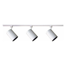 "Volume Lighting - Volume Lighting V2732 Track Light 3 Light 48"" Track Kit with Flat Back Track Hea - Three Light 48"" Track Kit with Flat Back Track Heads from the Track Light CollectionFeatures:"