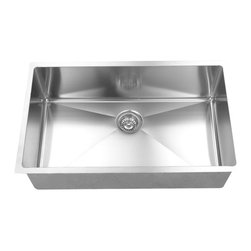 BOANN - BOANN UMR3219  Hand Made R15 Single Bowl 32 x 19 Inch Undermount 304 Stainless - The BOANN Hand Made UMR3219 stainless steel sink is an excellent upgrade/addition to any home. Made from premium grade t304 stainless steel, this sink will not oxidize or rust. Using t304 grade material is more expensive than other grades because it is a higher quality of stainless steel, which is also why it is more durable. This premium grade of stainless steel is generally used in equipment that requires more strength and durability like in cars and machines. T304 stainless steel material is 100% lead free. Tank Depth: 10 Inches, Tank Bevel Radius: 1/2 Inch. Sink includes colander/strainer, plug and grid.
