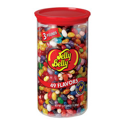 Frontgate - Jelly Belly 3-lb. Canister - Assortment of 49 Jelly Belly flavors. All Jelly Belly products are Orthodox Union kosher certified. Jelly Belly jelly beans are gluten-free, peanut-free, dairy-free, fat-free, and vegetarian-friendly, and are made in a peanut-free factory. Indulge your sweet tooth or provide a tasty gift with this Jelly Belly 3 lb. Canister. The assorted jelly beans will make a delicious dessert or anytime treat.. . .