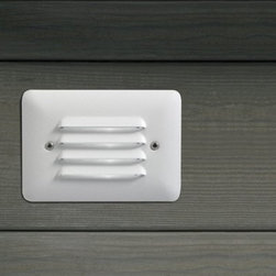 Kichler - Kichler 15072WHT Louvered Step Low Voltage Deck / Rail Lights - Deck & Patio - Designed to be integrated into outdoor steps. Casts a low, even spread of light. Available with louvered or white acrylic faceplate.