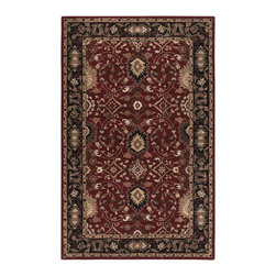 """Surya - Traditional Caesar Sample 1'6""""x1'6"""" Sample Red-Black  Area Rug - The Caesar area rug Collection offers an affordable assortment of Traditional stylings. Caesar features a blend of natural Red-Black  color. Hand Tufted of 100% Wool the Caesar Collection is an intriguing compliment to any decor."""