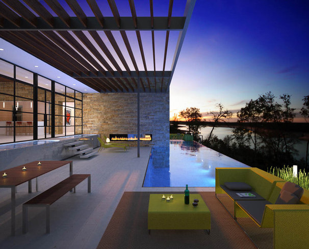 Contemporary Rendering by Baldridge Architects