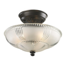 Elk Lighting - Restoration 3-Light Semi-Flush in Oiled Bronze - A grouping of ceiling lighting developed with a discriminating concern for preserving historic lighting and architectural designs. This offering of expert restoration and replication fixtures is offered in a wide variety of styles and sizes.