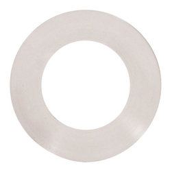 Brushed Nickel Vessel Mounting Ring - This mounting ring is designed for giving your glass vessel sink an ultimate finish, setting it off of the countertop and completing the look of your final installation. Mounting rings are only compatible with round shaped sinks with flat bottoms. Removable rubber pieces are included for the top and bottom of the ring.