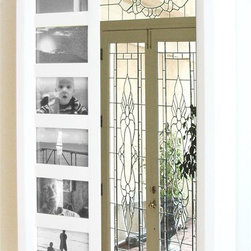 Proman Products - Venice Wall Mount Jewelry Armoire in White Fi - 6 picture holder, 12 drawers and a mirror on door. Easy to install. Drawers, hooks and earrings slots. Made from wood. No assembly required. 16 in. W x 4 in. D x 23 in. H