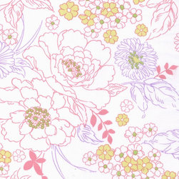 Bloom Fabric - I am not normally a fan of florals, but this pattern is floral perfection with its white background and uncluttered appeal. I love the painstaking details and fluid lines of this design.