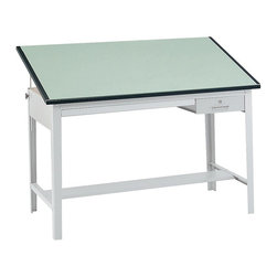 Safco - 60 in. Drafting Board in Green - Highlighted by smooth edges to protect your work, this drafting board will be an excellent choice for artists, graphic designers, architects and engineers. Finished in green, the board is made of particle board and melamine laminate and can be paired with a coordinating table base for a complete work station. Table base not included. Drafting Board for 3962GR Precision Table. Smooth edges. Made from particle board. Melamine laminate finish. 1 in. material thickness. Worksurface Dimensions: 60 in. W x 37.5 in. D x 1 n. H. Overall: 60 in. W x 37.5 in. D x 1 in. H (70 lbs.). Assembly InstructionDo your work with Precision! This table top is perfect for drafting. Ensure your engineers, artists and architects always have an area where they can create the next big idea. Great for home or office use, this table top will provide the perfect place for drawing, stenciling and finishing projects.