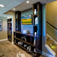 Eclectic Basement by Finished Basement Company