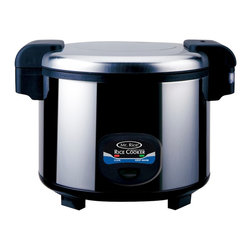Sunpentown - Heavy Duty Rice Cooker, 35-Cup - This super large, heavy-duty rice cooker with stainless steel body is ideal for restaurant use. Up to 24 hours keep warm and features 3-dimensional heating for even cooking (from top, sides and bottom). Inner pot made with Crystalline teflex Non-Stick Coating.