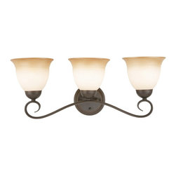 DHI CORP - Design House 512665 Cameron 3-Light Vanity Light - Oil Rubbed Bronze Finish - 51 - Shop for Bathroom Lighting from Hayneedle.com! The scrolling arms of the Design House 512665 Cameron 3-Light Vanity Light - Oil Rubbed Bronze Finish give it an undeniable antique charm you will adore. This formed-steel vanity light even fits your preference able to be mounted facing either up or down.About DHI CorpDHI Corp has committed itself toward providing its customers with a selection of carefully crafted high-quality products for the home and garden. With both consumer and trade markets in mind the company features domestic offices based in Mequon Wisconsin and a satellite office located in Asia. With design influences and the finest craftsmen and factories from around the globe under their employ DHI Corp has made itself a brand you can trust. Whether you need faucets fans hardware or more DHI has you covered.