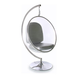 Fine Mod Imports - Bubble Chair with Stand - Features: