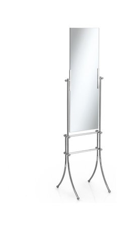 WS Bath Collections - Venessia 52944 Double Face Mirror - Venessia by WS Bath Collections Free Standing Double Face Mirror 16.9 x 16.9 x 62.4 in Polished Chrome