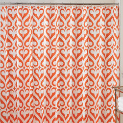 Jill Rosenwald Newport Gate Orange Shower Curtain - Add a color splash in the bathroom with a citrus orange shower curtain. Wake up each morning with a smile.