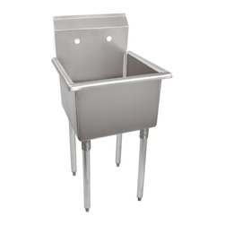 None - Stainless Steel Utility Sink - Add convenience and instant function to a restaurant,hotel,laboratory,warehouse,garage or home with this stainless steel utility sink.
