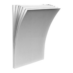 """Axo - Axo Polia P Wall Sconce - The Polia P Wall Sconce from has been designed by Manuel Vivian for Axo. Rectangular shaped wall sconce appears as a book who's pages are fluttering open due to the wind. Composed of metal and available in either an all-white or white and basalt grey finish. This fixture requries 1 x 100W R7s Halogen bulb. (not included).         Product Details: The Polia P Wall Sconce from has been designed by Manuel Vivian for Axo. Rectangular shaped wall sconce appears as a book who's pages are fluttering open due to the wind. Composed of metal and available in either an all-white or white and basalt grey finish. This fixture requries 1 x 100W R7s Halogen bulb. (not included). Details:                         Manufacturer:            Axo                            Designer:            Manuel Vivian                            Made in:            Italy                            Dimensions:            Height: 11 1/4"""" (28.6 cm) X Width: 7 1/2"""" (19 cm) X Depth: 3 3/4"""" (9.5 cm)                            Light bulb:            1 x 100W R7s Halogen bulb (not included)                            Material:            Metal"""