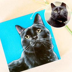 Custom Pet Portrait - Portraits of people? Overrated. Pet portraits? On point.