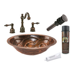 Premier Copper Products - Oval Braid Under Counter Sink w/ ORB Faucet - PACKAGE INCLUDES: