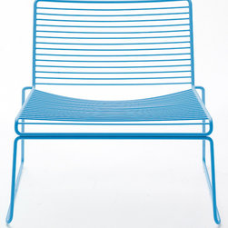 Hee Lounge Chair SET OF 2 by Hay Denmark - These cheerful chairs add cheer wherever you place them, whether indoors or out. Keep them out all the time, or stack them when not in use. Available in yellow, blue, green or gray.