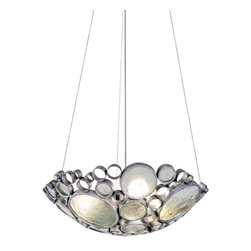 Varaluz - Fascination 3 Light Pendants in Nevada Silver With Random Silver Leafing - This 3 light Pendant from the Fascination collection by Varaluz will enhance your home with a perfect mix of form and function. The features include a Nevada (silver with random silver leafing) finish applied by experts. This item qualifies for free shipping! Wattage:100, Lamp Type:Medium Base, Bulbs:3