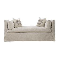 Curations Limited - Walterom Beige Linen Daybed Bench -