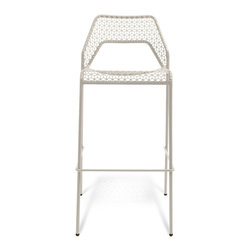 Blu Dot - Blu Dot Hot Mesh Barstool, Off White - Chipper stool seeks derrieres for at home enjoyment or cafe canoodling. Available in six finishes: black, green, humble red, natural yellow, simple blue and off-white. Stackable and suitable for use indoors or out. Also available as a chair or counterstool.